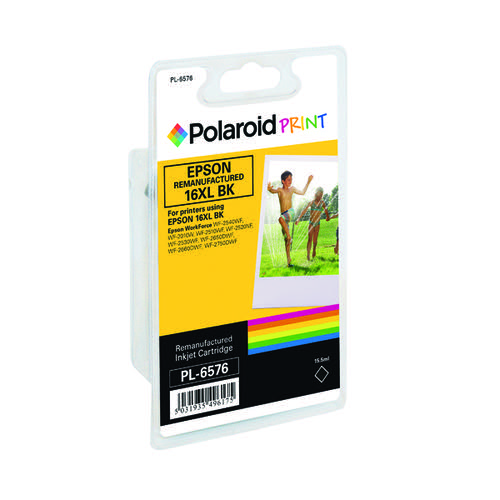 Polaroid Epson 16XL Remanufactured Inkjet Cartridge Black T163140-COMP PL