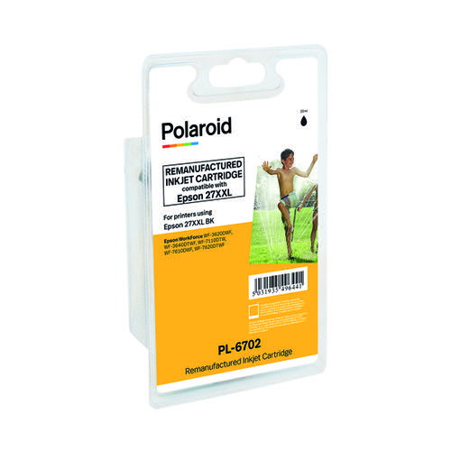 Polaroid Epson 27XXL Black Inkjet Cartridge T27914010-COMP