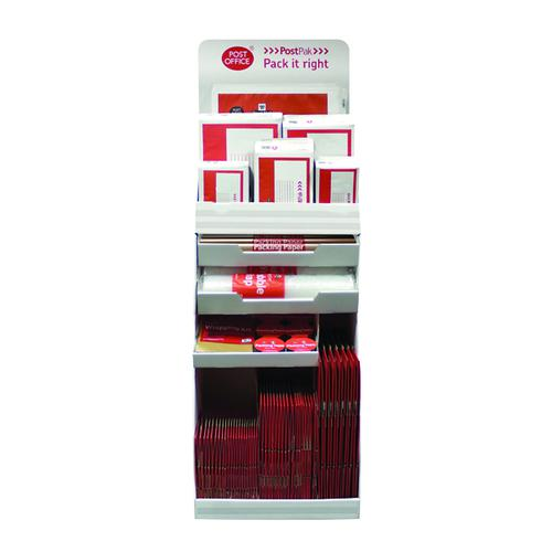 Postpak Red Display Stand and Stock PACKAGING FSDU
