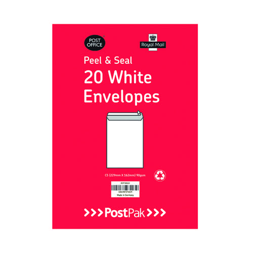 Envelopes C5 Peel and Seal White 90gsm (Pack of 20) 9730613