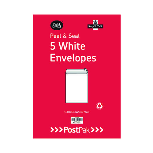 Envelopes C4 Peel and Seal White 90gsm (Pack of 200) 9731232
