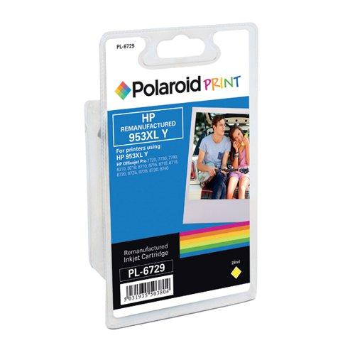 Polaroid HP 953XL Remanufactured Inkjet Cartridge Yellow F6U18AE-COMP PL