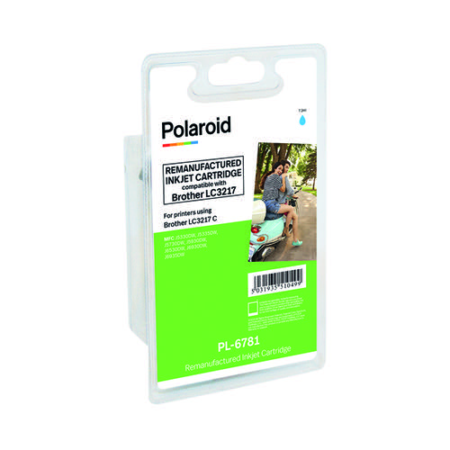 Polaroid Brother LC3217 Cyan Inkjet Cartridge LC3217C-COMP