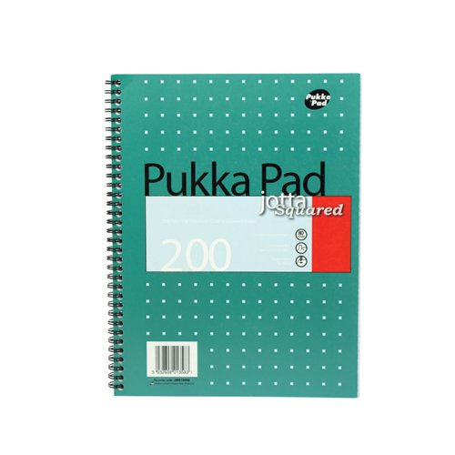 Pukka Pad Square Wirebound Metallic Jotta Notepad 200 Pages A4 (Pack of 3) JM018SQ