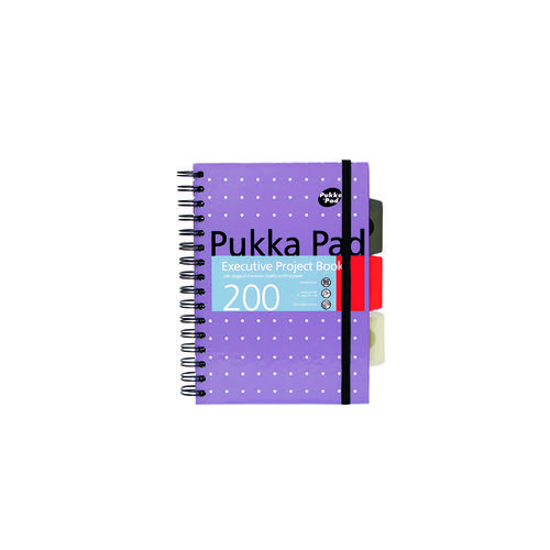 Pukka Pad Executive Ruled Wirebound Project Book A5 (Pack of 3) 6336-MET
