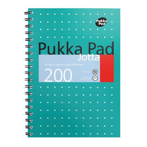 Pukka Pad Metallic Cover Wirebound Jotta Notebook B5 (Pack of 3) 8520-MET