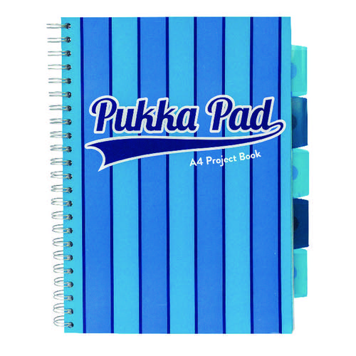 Pukka Pad Vogue Wirebound Project Book A4 Blue (Pack of 3) 8538-VOG