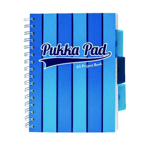 Pukka Pad Vogue Wirebound Project Book A5 Blue (Pack of 3) 8540-VOG