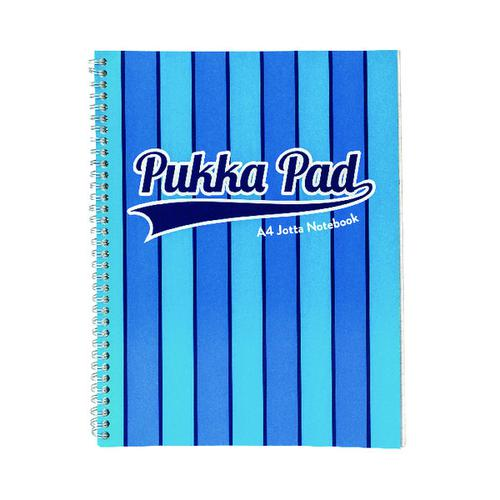 Pukka Pad Vogue Wirebound Jotta Pad A4 Blue (Pack of 3) 8542-VOG