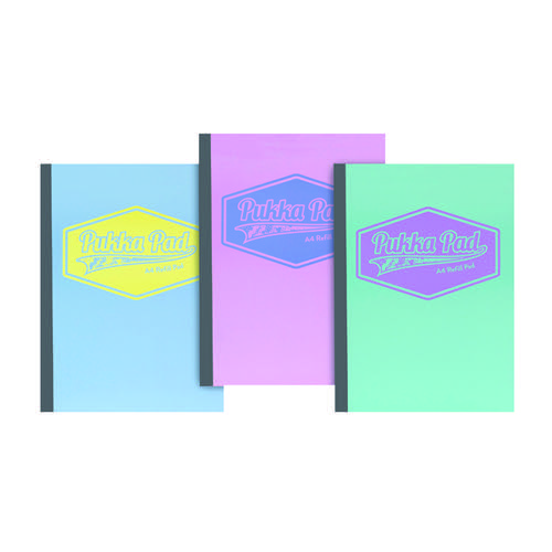 Pukka Pad Pastel Refill Pads A4 (Pack of 3) 8902-PST