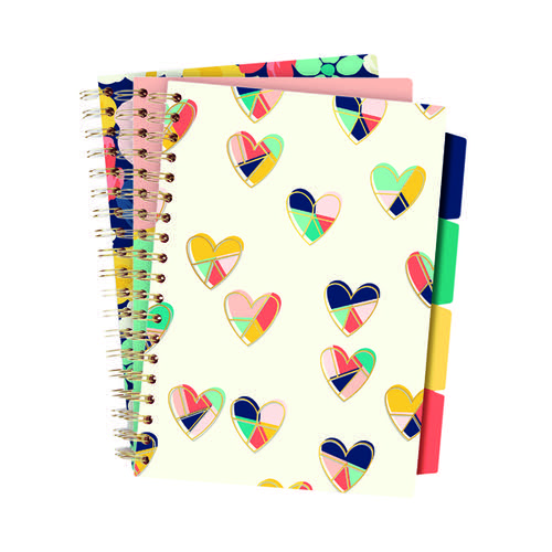 Pukka Floral Love Project Books B5 Assorted (Pack of 3) 9033-CD
