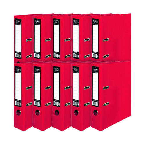 Pukka Brights Lever Arch File A4 Red (Pack of 10) BR-7758