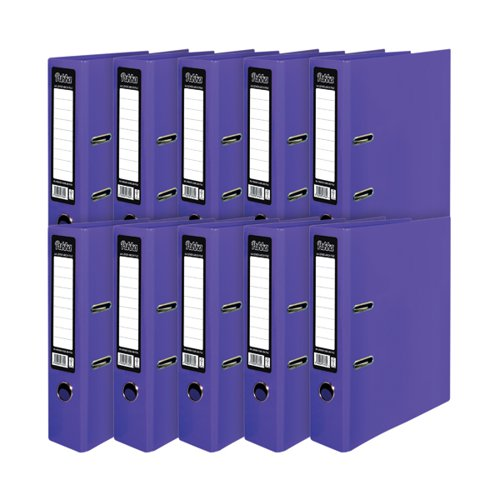 Pukka Brights Lever Arch File A4 Purple (Pack of 10) BR-7762