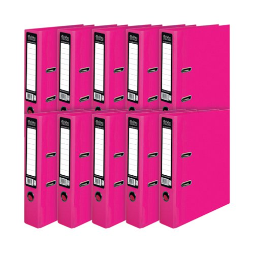 Pukka Brights Lever Arch File A4 Pink (Pack of 10) BR-7764