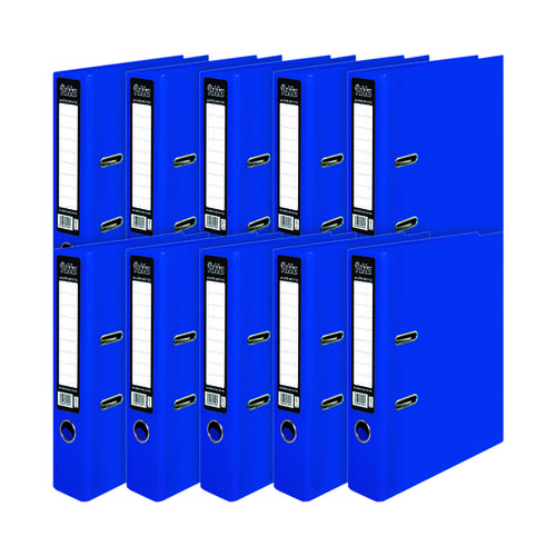 Pukka Brights Lever Arch File A4 Navy (Pack of 10) BR-7996