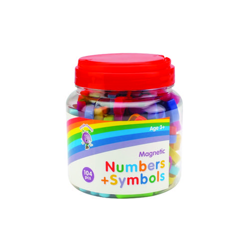 Purple Peach Magnetic Numbers and Symbols (Pack of 624) 007
