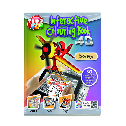 Pukka Fun Interactive Colouring Book 4D Race Day 8420-FUN