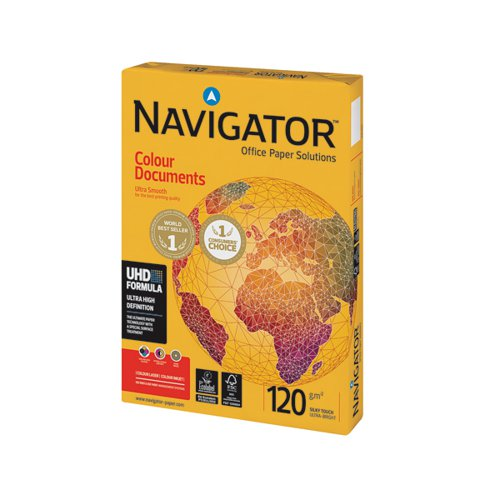 Navigator Colour Documents A4 Paper 120gsm (Pack of 250) NAVA4120