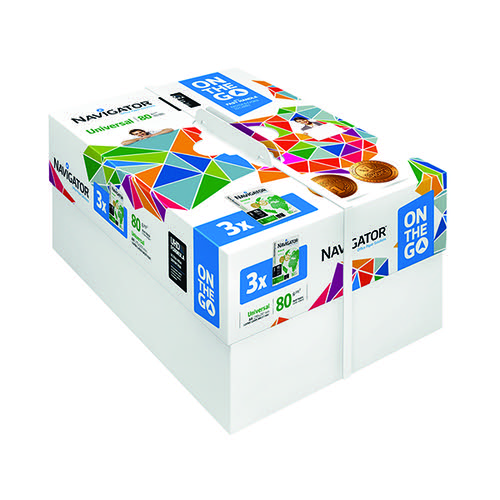 Navigator Universal On The Go 80gsm White (Pack of 1500) NAVA4OTG