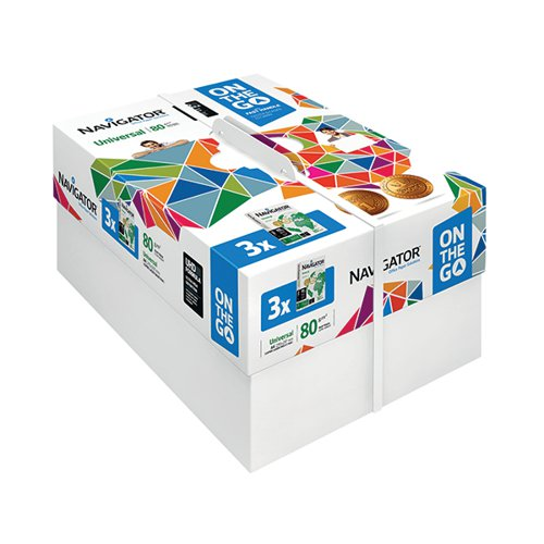 Navigator Universal On The Go A4 Paper 80gsm 3 Reams White (Pack of 1500) NAVA4OTG