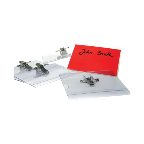 Announce Combi Clip Name Badge 54x90mm (Pack of 50) PV00918