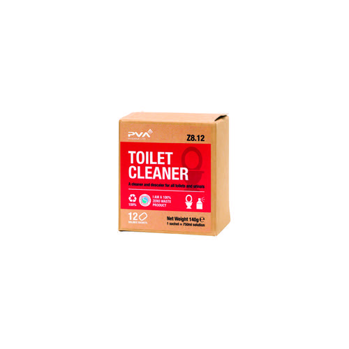 PVA Toilet Cleaner Sachets 1 Litre (Pack of 12) PVAA8-12