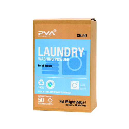PVA Laundry Washing Powder Sachets (Pack of 50) PVAA6-50