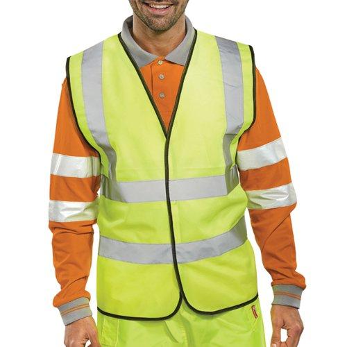 Hi-Viz Vest S/Yellow EN ISO 20471 XL WCENGXL