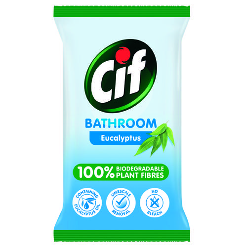 Cif Bio Bath Wipes 80 Sheets (Pack of 6) C001710