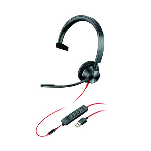 Poly Blackwire 3315 BW3315-M Headset USB-A Corded Black 214014-01M by Poly, PY16776