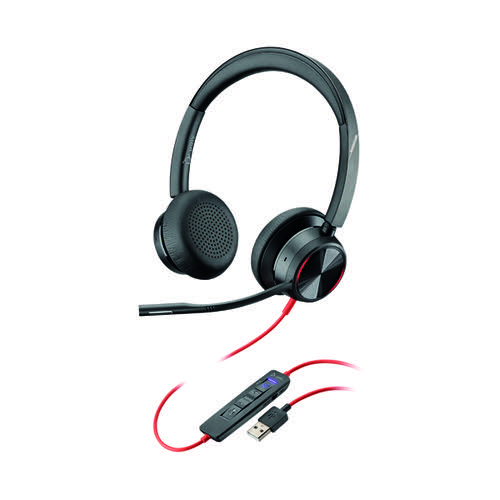 Poly Blackwire 8225 BW8225-M Headset USB-A WW Corded 214408-01