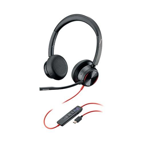 Poly Blackwire 8225 BW8225-M Headset USB-C WW Corded 214409-01 by Poly, PY16850