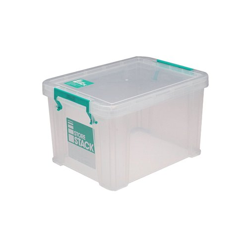StoreStack 1 Litre Storage Box W180xD110xH90mm Clear RB00814
