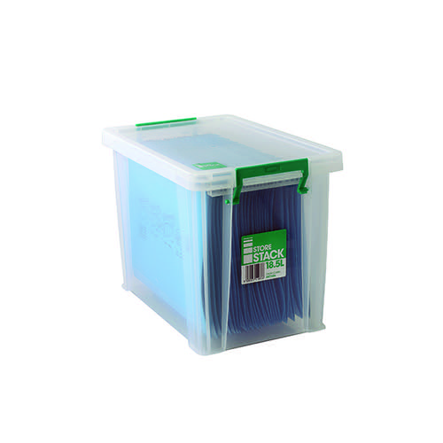 StoreStack 18.5 Litre Storage Box W400xD260xH290mm Clear RB11086