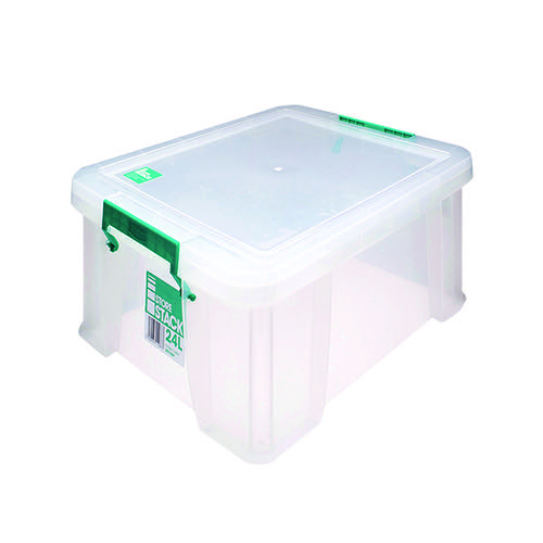 StoreStack 24 Litre Storage Box W480xD380xH190mm Clear RB11087