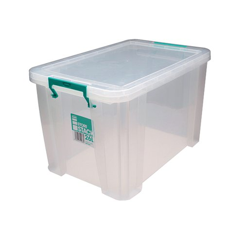 StoreStack 26 Litre Storage Box W470xD300xH290mm Clear RB11088