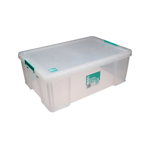 StoreStack 51 Litre Storage Box W660xD440xH230mm Clear RB11089
