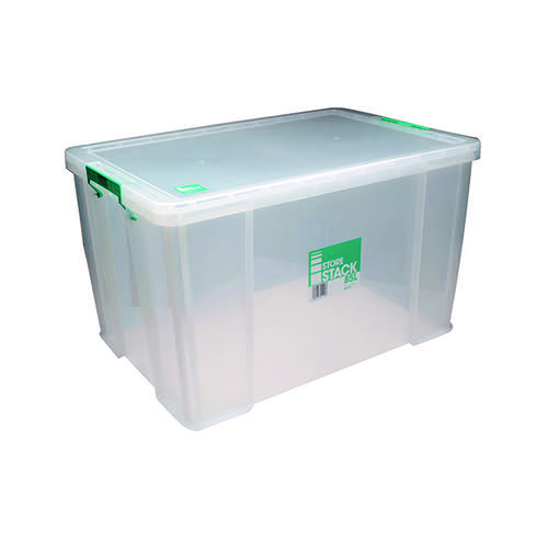 StoreStack 85 Litre Storage Box W660xD440xH390mm Clear RB11090