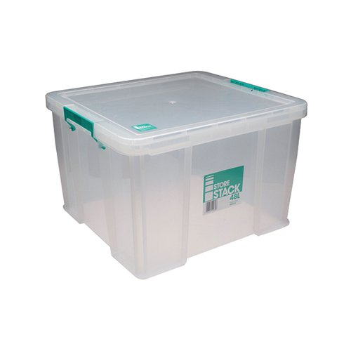 StoreStack 48 Litre Storage Box W490xD440xH320mm Clear RB90125
