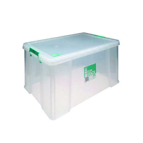 StoreStack 70 Litre Storage Box W660xD450xH320mm Clear RB90126