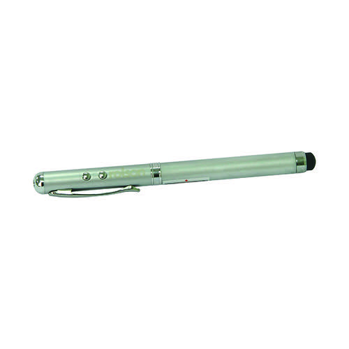 Rolson 4-in-1 Laser Pointer Pen Silver 1230082