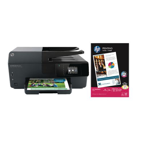 HP Starter Bundle Officejet Pro 6830 with HP Printing paper 80gsm