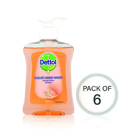 Dettol Moisture Hand Wash 250ml (Pack Of 6) 74992