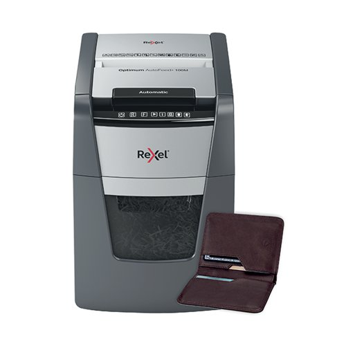 Rexel Optimum AutoFeed+ 100M Micro-Cut Shredder Black 2020100M
