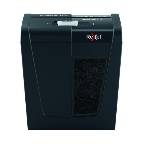 Rexel Secure S5 Strip-Cut Paper Shredder Black 2020121