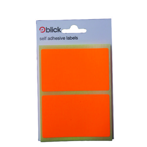 Blick Fluorescent Labels in Bags 50x80mm 8 Per Bag Orange (Pack of 160) RS010852