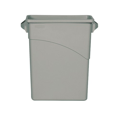 Rubbermaid Slim Jim Recycling Container Bin 60 Litre Capacity 558x279x635mm Grey 1971258