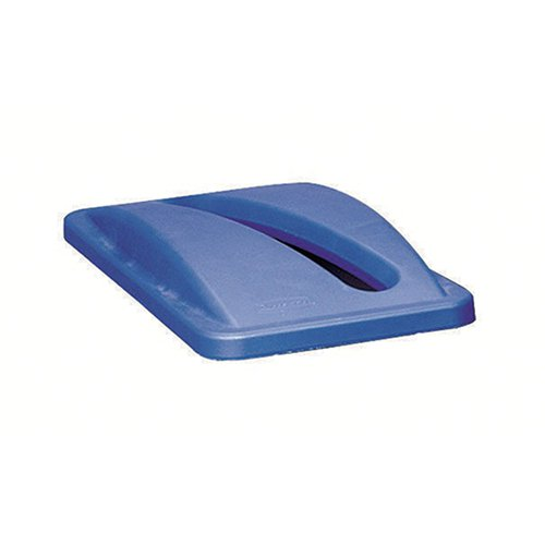 Rubbermaid Slim Jim Bin Lid Paper Blue 2703/R001091