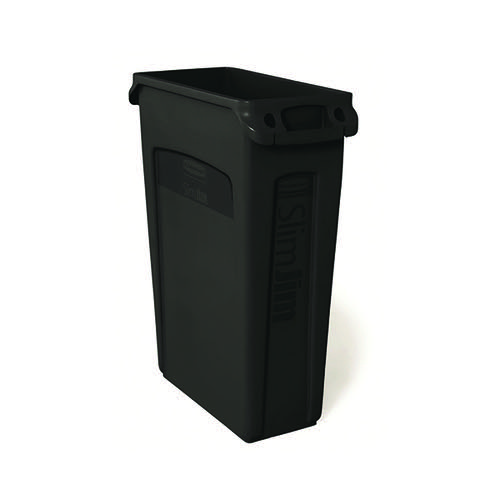 Rubbermaid Slim Jim Venting Channel Container 87 Litre Black 3540-60-BLA