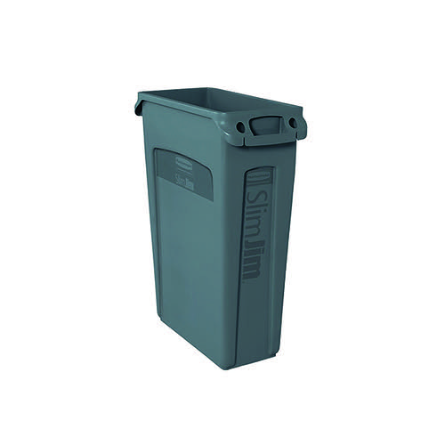 Rubbermaid Slim Jim Venting Channel Container 87 Litre Grey 3540-60-GRY